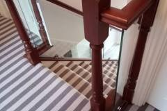 glass staircase balustrade Warminster, Wiltshire