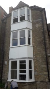 Timber bay window fitted near Bruton