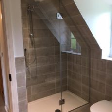 glass shower door by gillingham glass & glazing