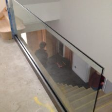 All glass railing