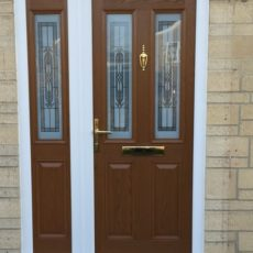 brown door by gillingham glass & glazing