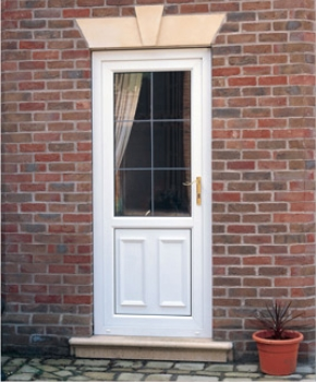 white plastic door by gillingham glass & glazing